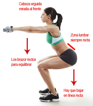 Young Woman doing dumbell squats